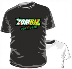 Zombies Eat Flesh Funny Parody Novelty Design for The Zombie Apocolypse mens or ladyfit t-shirt